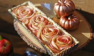 מתכון לטארט תפוחי שושנים מדהים!