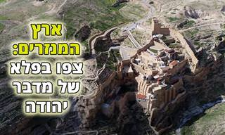 תיעוד עוצר נשימה של ארץ המנזרים במדבר יהודה
