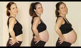 הבטן תפחה והאמא שמחה - שלבי ההריון!