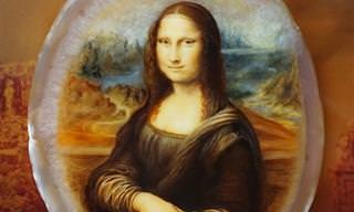 16 אבני חן יפיפיות עם ציורי לכה זעירים