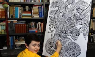 יצירותיו של הנער המוכשר שמצייר את הטבע מהזיכרון בדיוק מושלם!