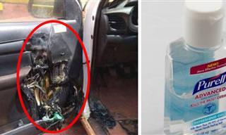 אזהרה: אל תאחסנו אלכוג'ל ברכב