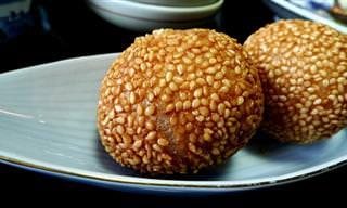 מתכון לכדורים סיניים מטוגנים במילוי שעועית אדומה