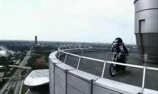 פעלולן האופנועים כריס פייפר בפעולה