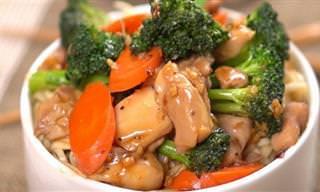 מתכון לתבשיל עוף וירקות ברוטב טריאקי שעוד לא טעמתם כמותו