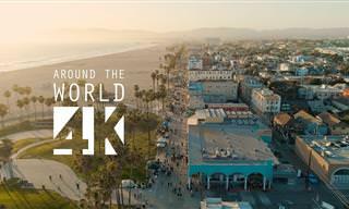 סרטון באיכות 4K על נופיה של מדינת קליפורניה