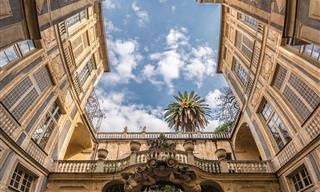 תמונות פנורמה אנכיות של מבנים מפורסמים באיטליה וספרד