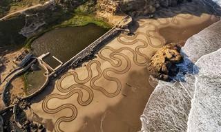 האמן שמצייר בחול הזכיר לי לחיות את הרגע וליהנות מהחיים