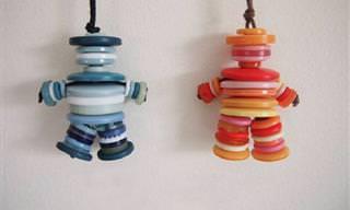 8 יצירות מדהימות מכפתורים שתוכלו לקשט בהן את הבית
