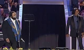 דואט נפלא ומרגש של ג'יימס בראון ולוצ'אנו פבארוטי לשיר It's a man's world