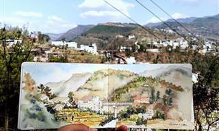 20 ציורים מדהימים של קיאן שי ממקומות בהם טייל בעולם