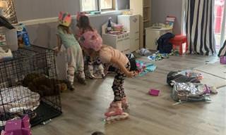14 תמונות מצחיקות של הורים שתקועים עם הילדים בבית בגלל הקורונה