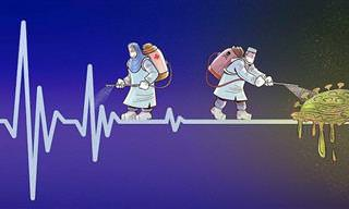 16 איורים של צוותים רפואיים שנלחמים בנגיף הקורונה