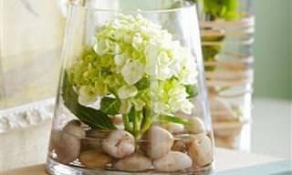 12 דרכים לשדרוג אגרטרלים וזרי פרחים