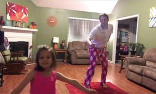 האבא הזה והבת שלו כבשו את הרשת עם הריקוד המקסים שלהם!