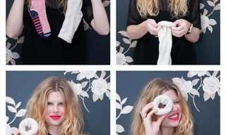איך לעצב תסרוקת לשיער עם גרב?