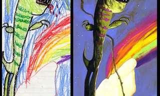 כשצייר מקבל השראה מציורי ילדים
