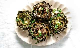 פרחי ארטישוק יפהפיים ומזינים
