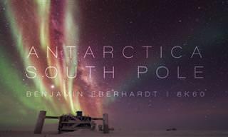 סרטון מרהיב של הקוטב הדרומי באיכות 8K