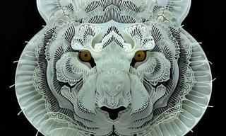 תמונות מיוחדות של חיתוכי נייר בצורת בעלי חיים