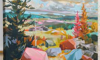 16 מציוריה הצבעוניים להפליא של ציירת נוף מוכשרת