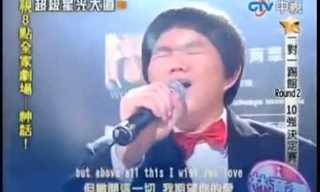 ילד טיוואני בביצוע מרגש לשיר של וויטני יוסטון