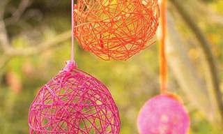 כדורי צמר צבעוניים - יצירה מהנה לילדים!