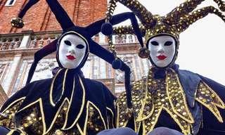 תמונות מדהימות מפסטיבל המסכות של ונציה