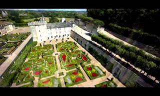 צילומי רחפן מרהיבים של  הגנים בטירת וילנדרי