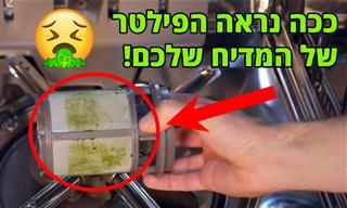 ככה נראה המסנן של המדיח שלכם אם לא ניקיתם אותו אף פעם