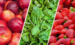 הפירות והירקות בעלי הכמות הרבה והמועטת ביותר של חומרי הדברה