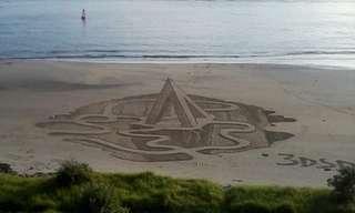 ציורי חול ים בתלת ממד - מדהים!