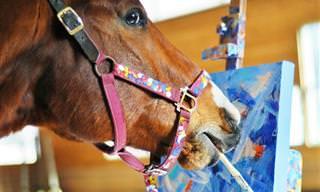 סיפורו המיוחד של מטרו - סוס המרוצים שהפך לצייר