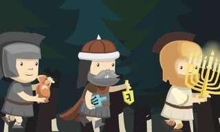 טטריס חשמונאים - משחק נושא פרסים לחנוכה