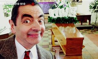 קטע קורע מצחוק של מיסטר בין בלוויה