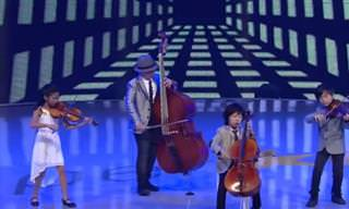 ילדים קטנים בביצוע ענק שנותן כבוד לויוואלדי ומייקל ג'קסון