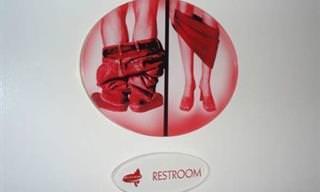 שלטי שירותים מיוחדים ומצחיקים מכל העולם