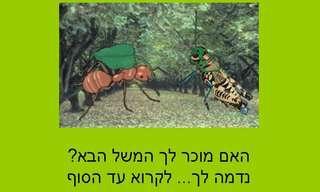 משל הצרצר והנמלה - לא מה שהכרתם!