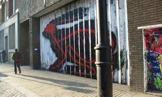 הארנבת המתחלפת - ציור קיר מדהים!