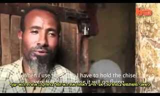 נגר אתיופי נכה, עובד ללא ידיים!