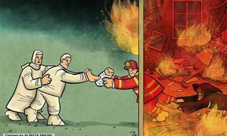 15 קריקטורות שחושפות את המציאות שלנו כיום