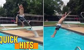 אוסף הפספוסים שיראה לכם למה לקפוץ לבריכה זה ממש לא פשוט!