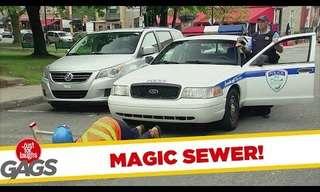אדוני השוטר, יש מישהו בביוב - מתיחה מצחיקה!
