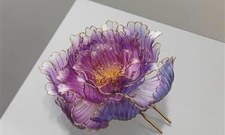 קישוטי שיער בצורת פרחים של האומנית היפנית סאקה