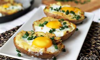 מתכון לסירות תפוחי אדמה במילוי גבינה וביצה