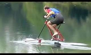 אופניים ששטים על המים!