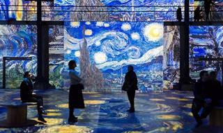 תמונות מתוך תערוכה חדשנית המציגה את ציורי ואן גוך