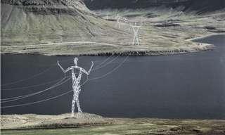 עמודי חשמל באיסלנד