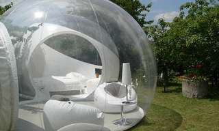 אוהל נייד בעל קירות שקופים