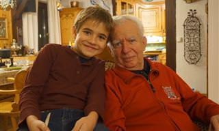 ברכה מרגשת של נכדים לסבא וסבתא אהובים